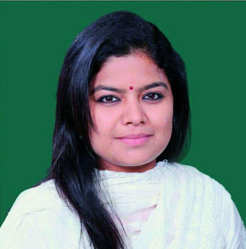 Lok Sabha MP Poonam Mahajan, the daughter of the late Pramod Mahajan.