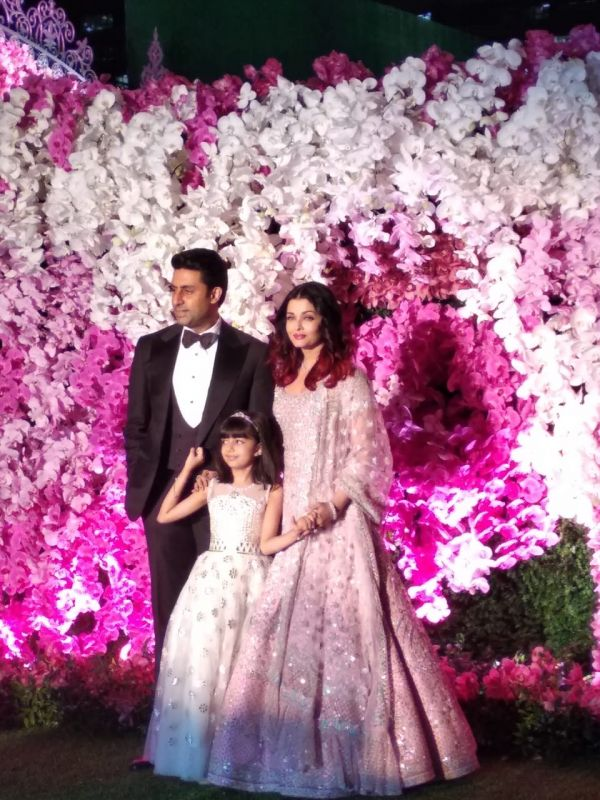 Abhishek Bachchan and Aishwarya Rai Bachchan with daughter Aaradhya. (ANI Photo)
