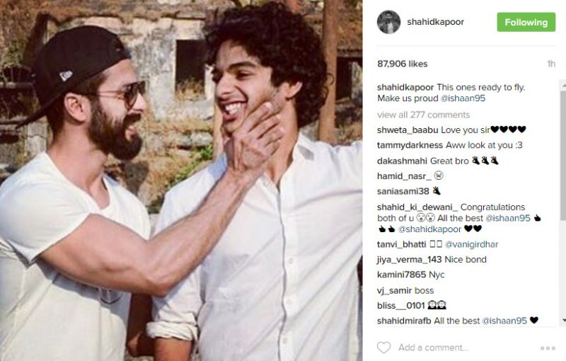 It's official! Shahid confirms brother Ishaan's debut and it's not Sairat