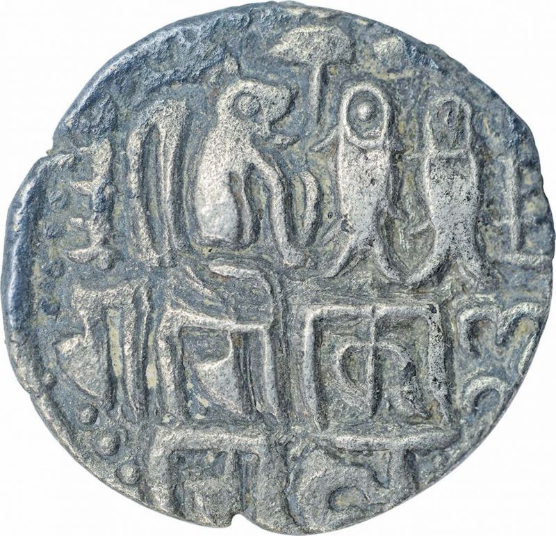 Silver Kahavanucoin  during the reign of Raja Raja I Chola.