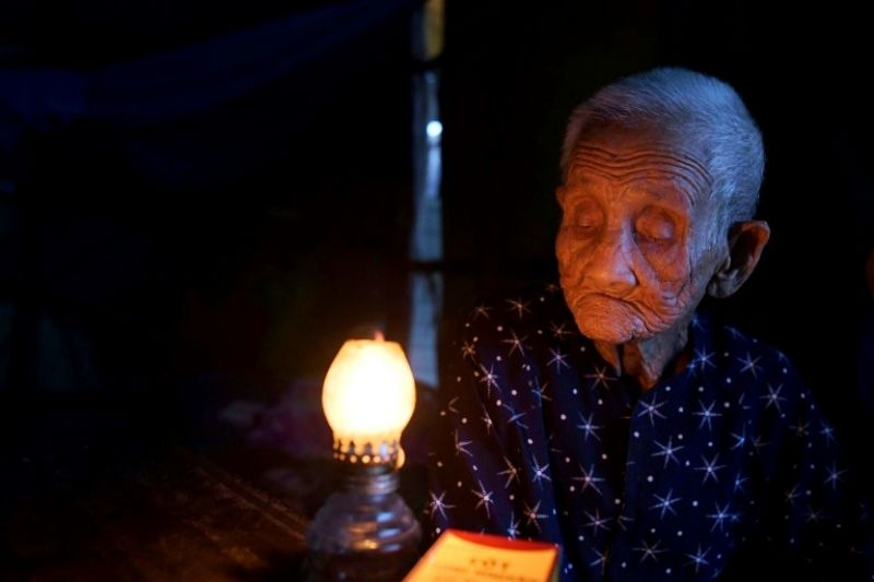 Grandmother Pham Thi Ca was helpless to prevent the destruction of her property two years ago. (Photo: AFP)