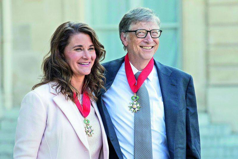 Bill Gates with Melinda Gates