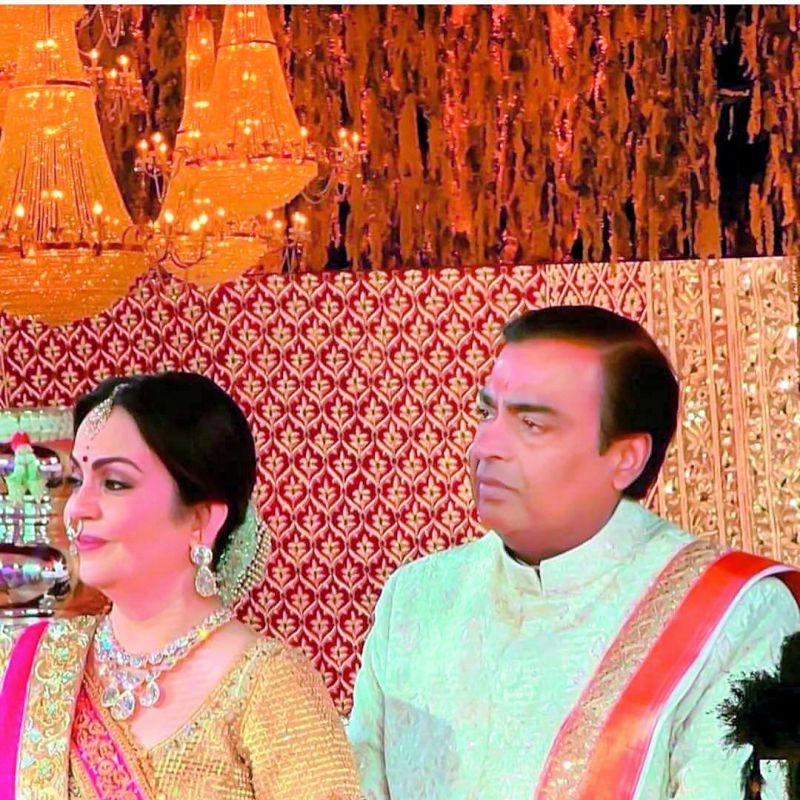 proud parents: Nita and Mukesh Ambani