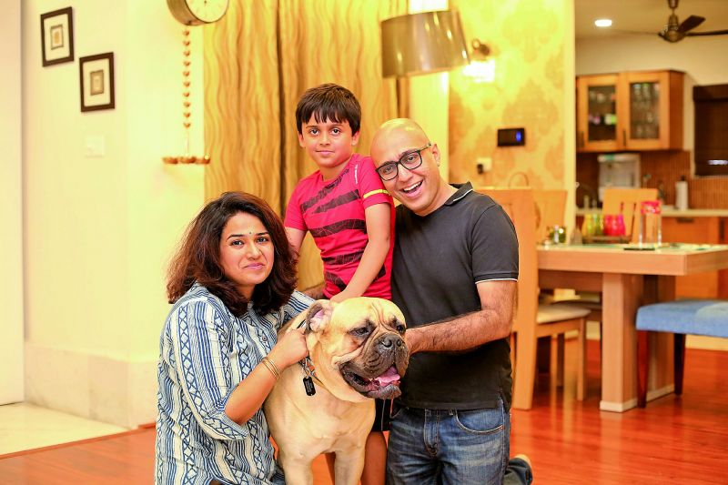 gentle giant: Max with the Mehrotra family