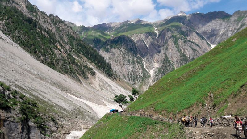 Baltal enroute Amarnath holy cave.