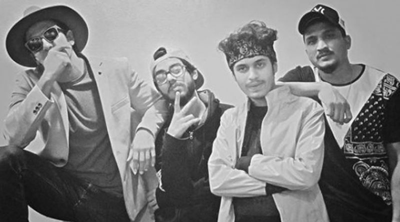Ranveer Singh with rapper Divine and his gang for 'Gully Boy'.