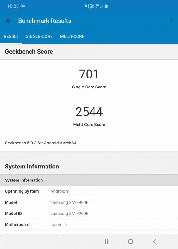 Samsung Galaxy Fold benchmarks