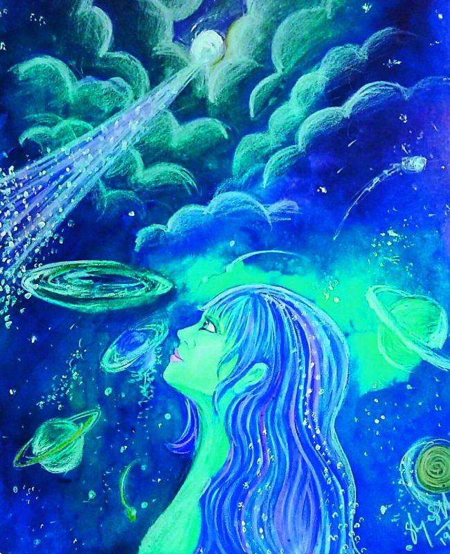 One of Shreya Varakhedar's  psychedelic artwork.