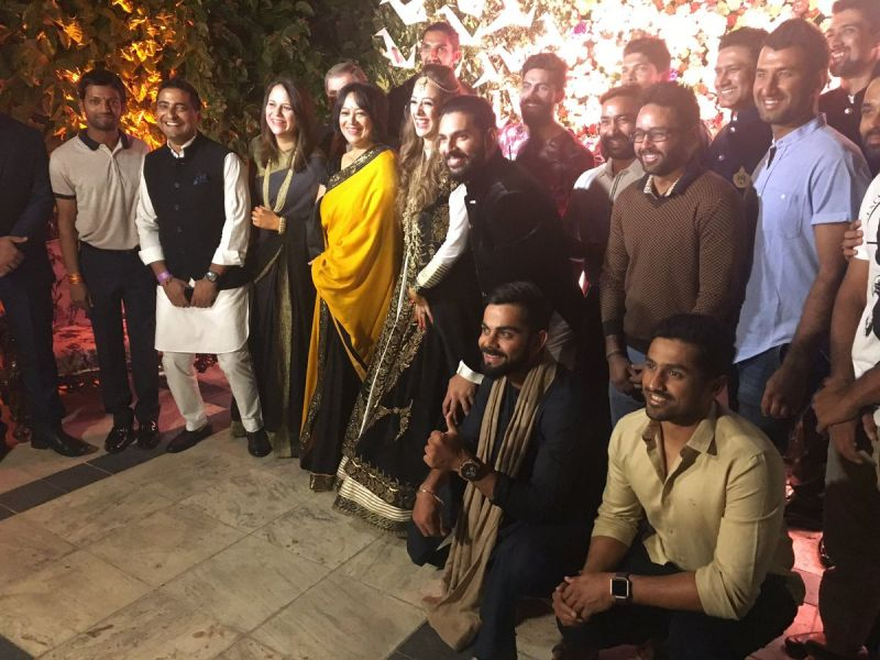 Indian cricket team attended pre-wedding celebrations of Yuvraj Singh and Hazel Keech. (Photo: BCCI Twitter)