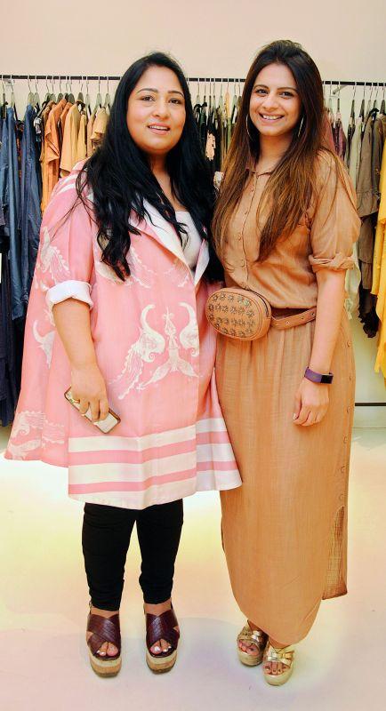 Designers Aartivijay Gupta and Nupur Harwani  wearing their collection.