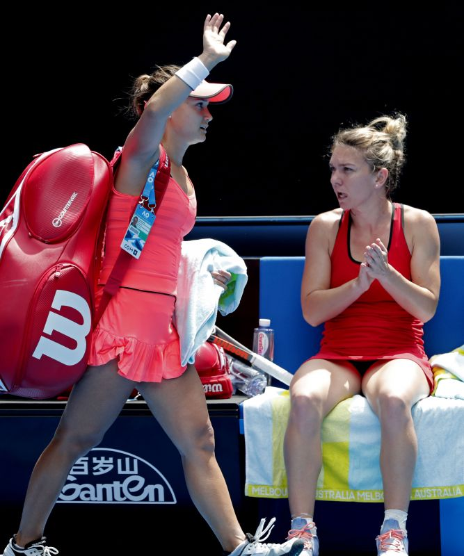 Davis, a baby-faced 24-year-old with a monster forehand, was majestic in defeat, breaking Halep three times when the Romanian served for the match and battling on after losing a toenail late in the game. (Photo: AP)