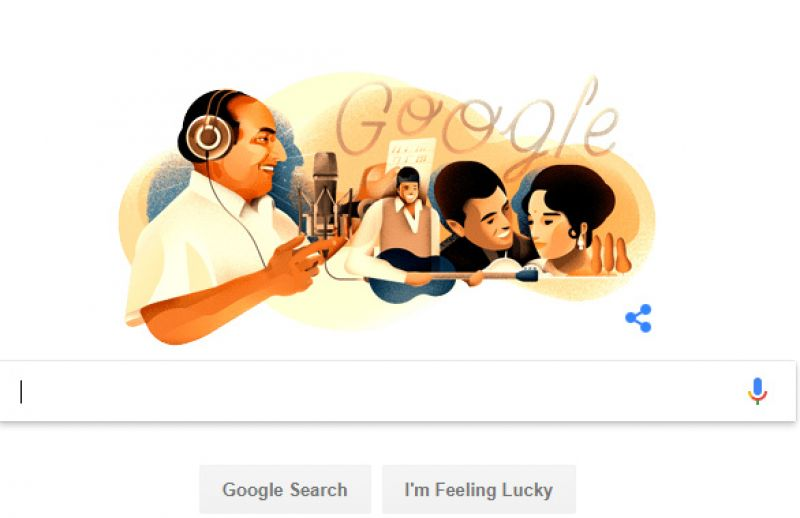 Google pays tribute to legendary singer Mohammed Rafi with special doodle