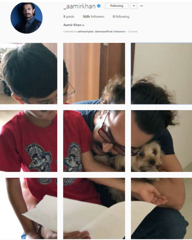 After touching Instagram debut post for mom, Aamir replaces it with his 'babies'
