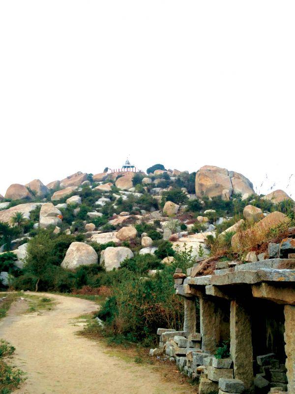 Sita Temple on the apex of Avani Hill