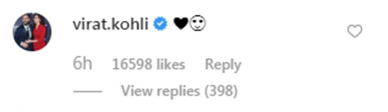 Virat Kohli's reaction on Anushka Sharma's bikini picture. (Photo: Instagram)