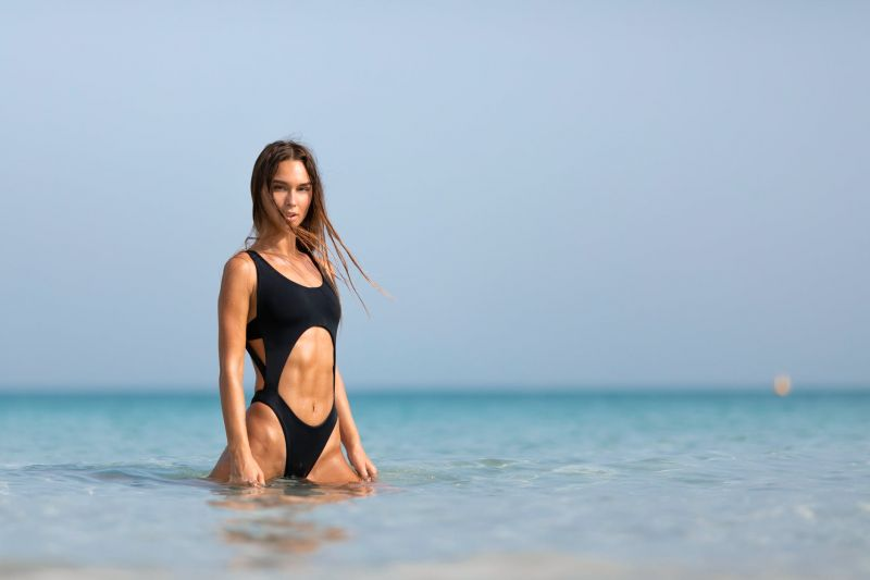 The one-piece with a cut-out is a sultirer version of the otherwise modest design. (Photo: Representational/Pixabay)
