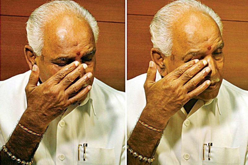 B.S. Yeddyurappa turns emotional after the CBI court judgement.
