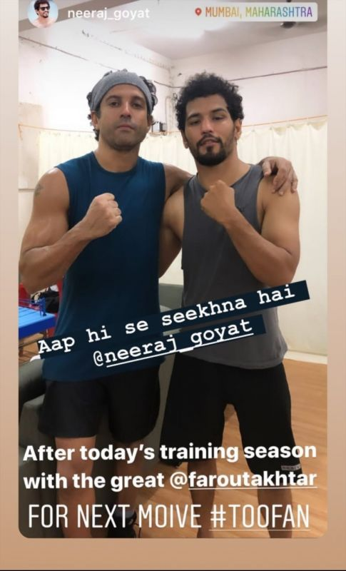 Farhan Akhtar - Neeraj Goyat Training Session