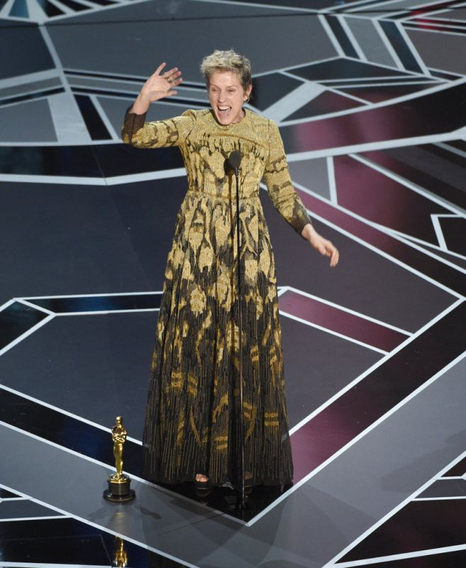 Frances McDormand accepts award for best actress in a leading role.