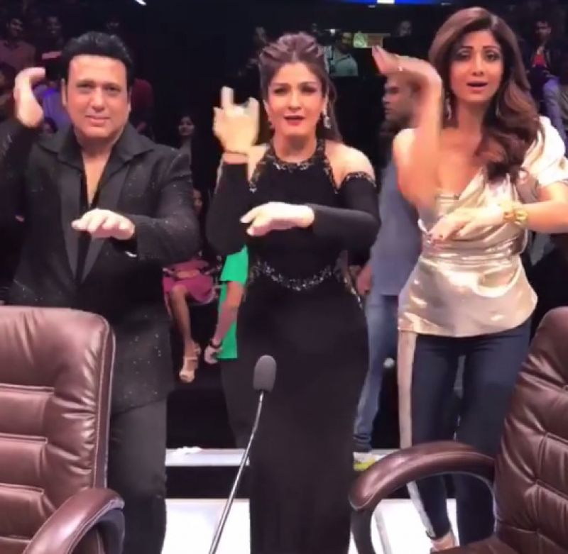 Govinda shilpa and raveena groove together as they reunite after 19 sharing a boomerang video where the trio are dancing together shilpa wrote ha altavistaventures Gallery