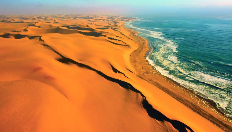 Namib desert meeting Atlantic.