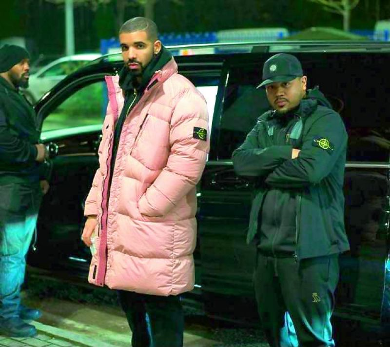 Rapper Drake is known for wearing puffer jackets