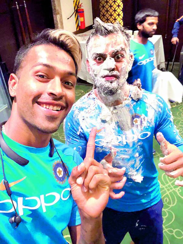 Hardik Pandya shared a picture with Virat Kohli on his birthday