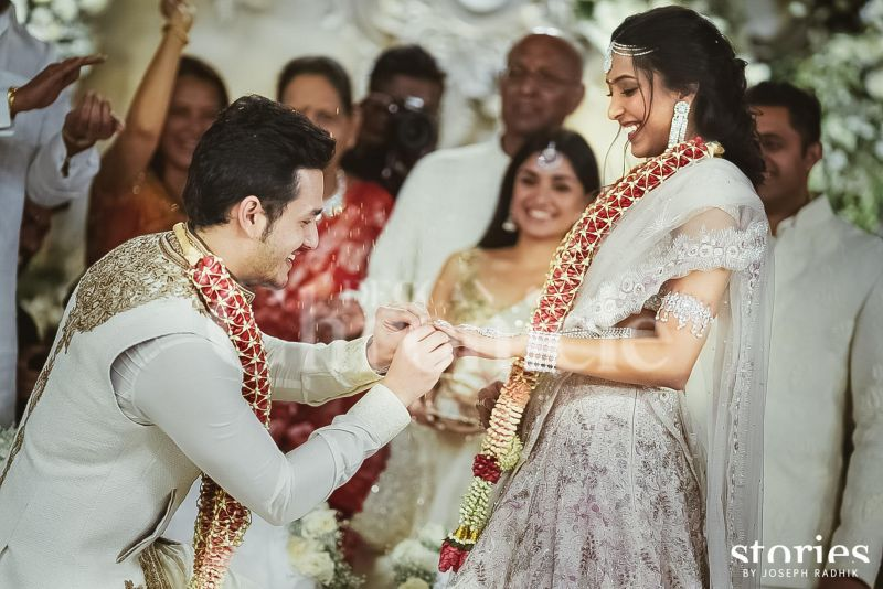 Tollywood Superstar Nagarjuna's youngest son and actor Akhil Akkineni got engaged to his girlfriend of two years Shriya Bhupal, in a private ceremony in Hyderabad on Friday.