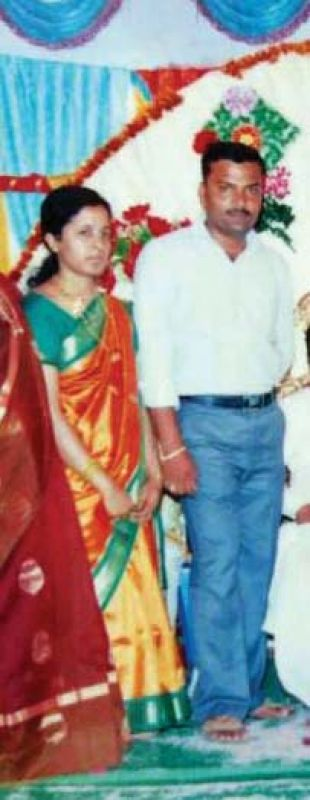 Subash with his wife