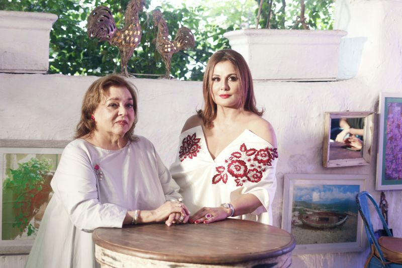 Pallavi Jaikishan with her muse Anju Chulani