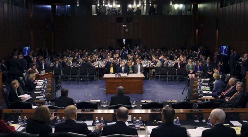 Facebook CEO Mark Zuckerberg testifies before a joint hearing of the Commerce and Judiciary Committees on Capitol Hill in Washington, Tuesday, April 10, 2018, about the use of Facebook data to target American voters in the 2016 election. (Photo: AP)