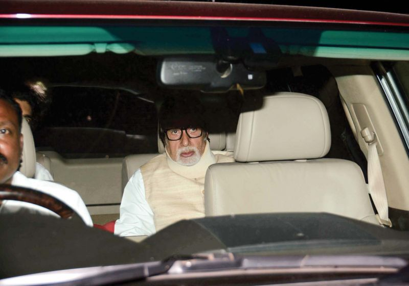 Big B enroute to the funeral.