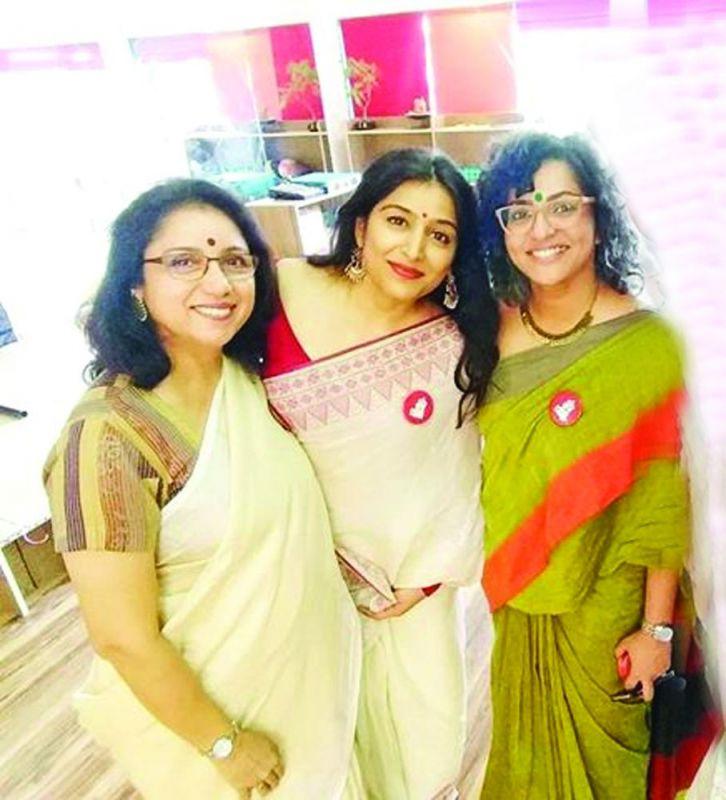 Actresses Revathy, Padmapriya and Parvathy