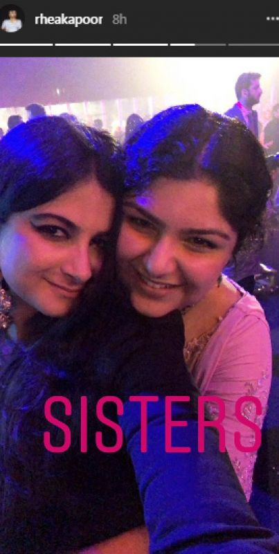 Arjun Kapoor's sister Anshula was also clicked in this selfie with her cousin Rhea Kapoor on the latter's Instagram story.