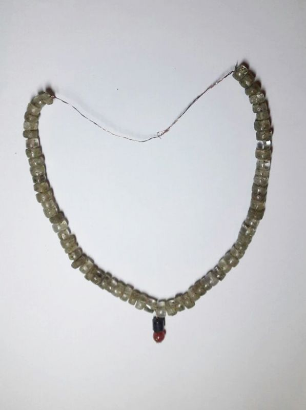 As many as 69 beads of crystal, carnelian and chalcedony with red, white and blue-brown colour combination were found and they were dated back to fourth or fifth century BC.