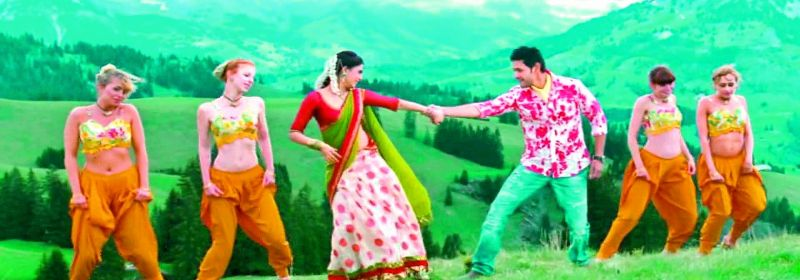 A screengrab of a song from the film Dookudu