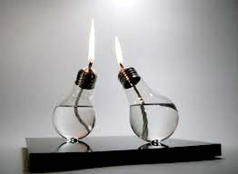 Use old bulbs. drill a hole and pour oil and use wicks for a customised diya of recycled material.