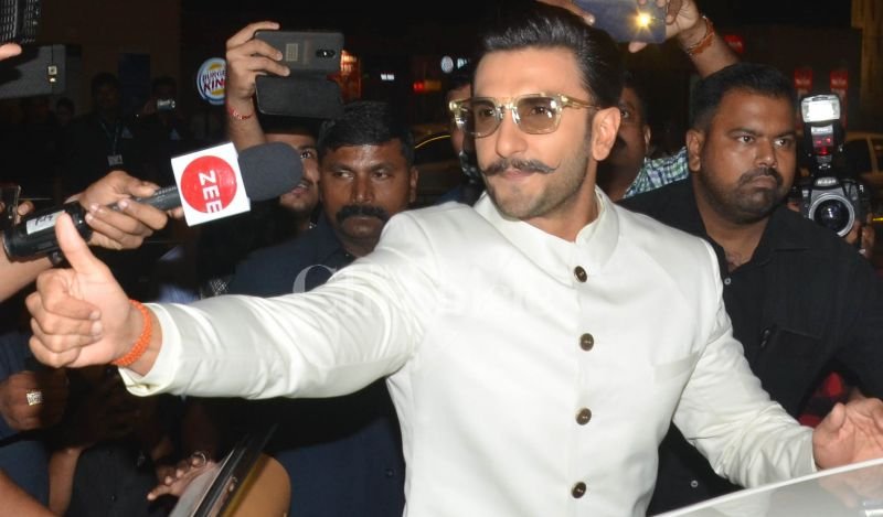Ranveer Singh at the Mumbai airport.