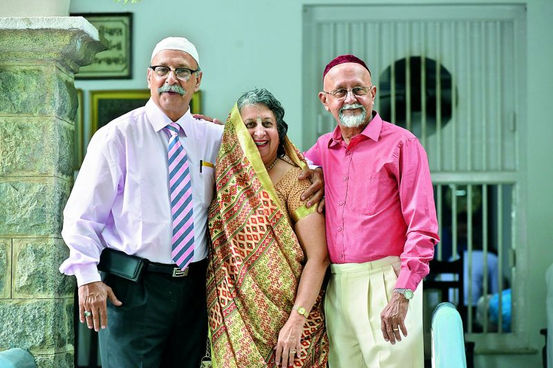 Members of the Parsi community at the Fire Temple in Secunderabad