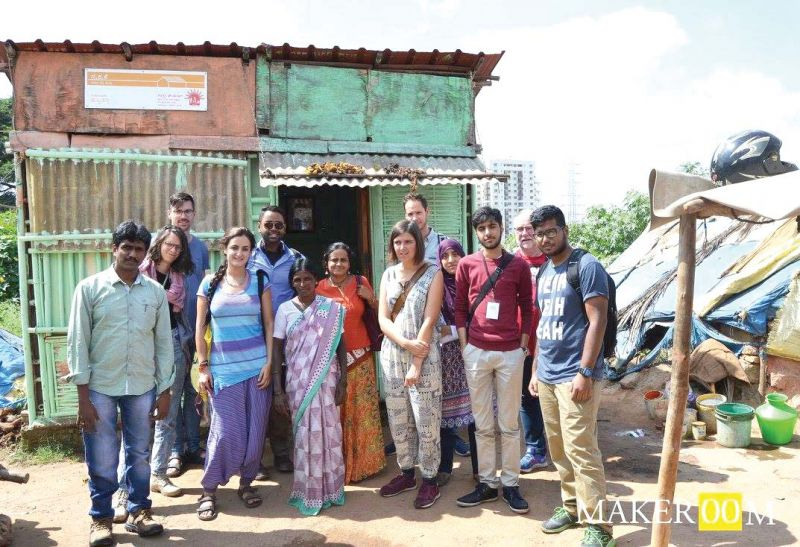 Changemakers from across Europe and India on a local field study