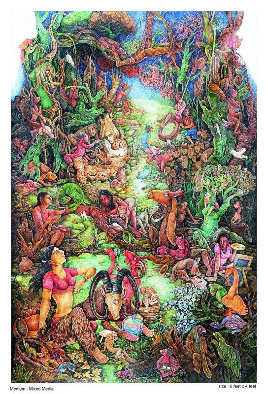 One of Gouri's artworks.
