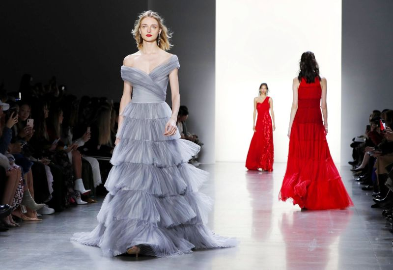 Pastel and reds with ruffels and flowy trains (Photo: AP)