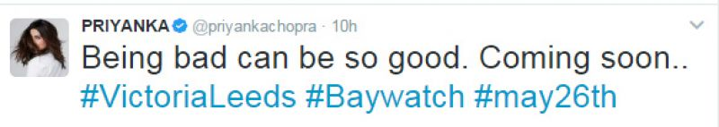 Priyanka Chopra looks red hot in new Baywatch poster