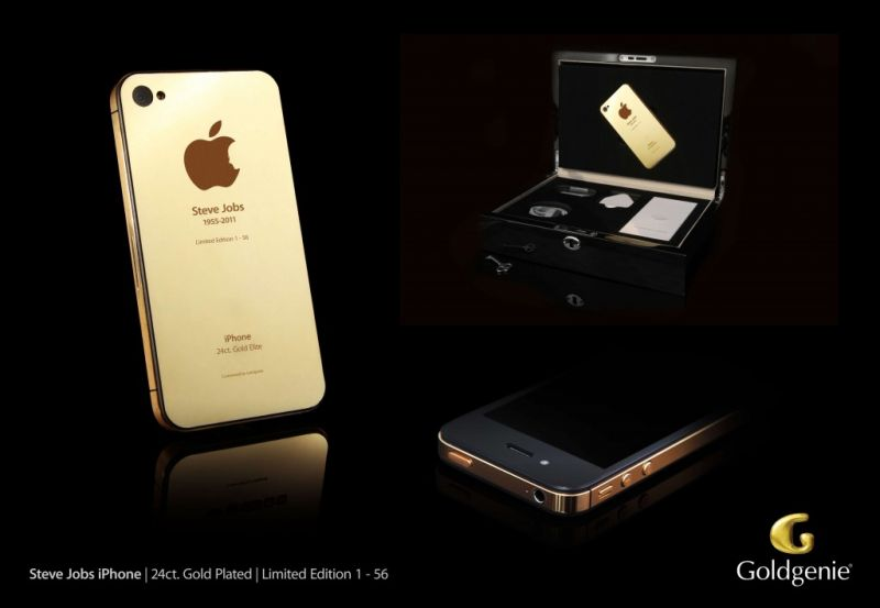 The limited edition gold edition iPhone made by Goldgenie