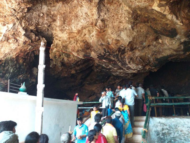 Devotees at Kavala Caves