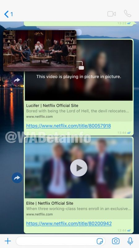 WhatsApp Netflix picture-in-picture