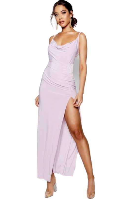 Keep it casual and simple with this lavender coloured dress.