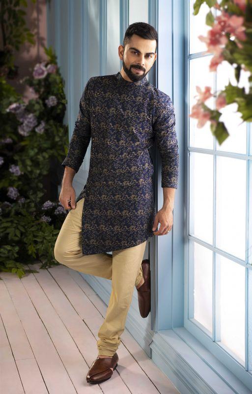 virat kohli looks chic as he launches manyavar  u2018india ethnic week u2019 festive campaign