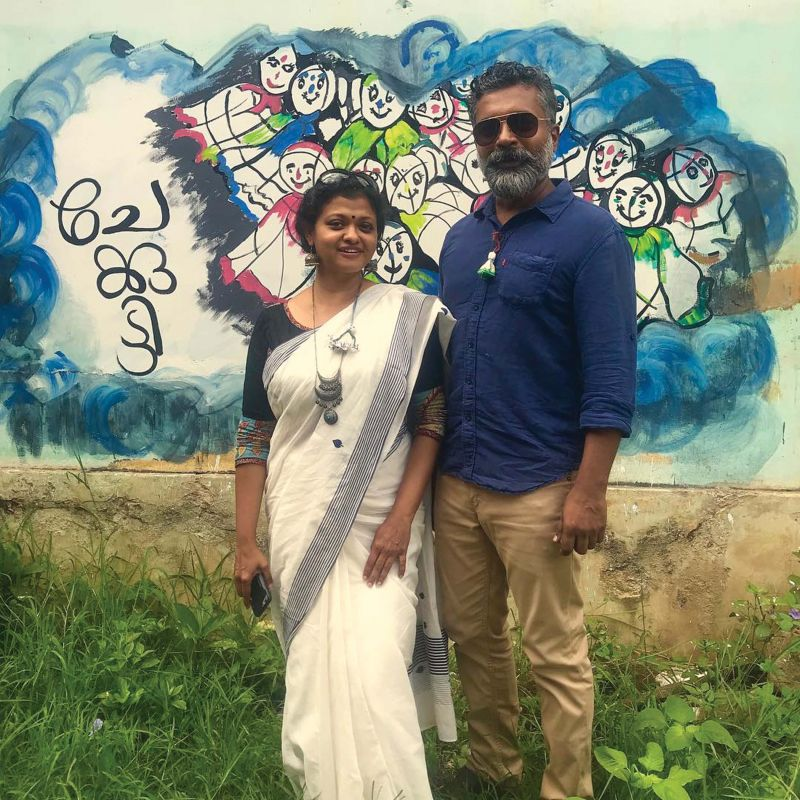 Lakshmi Menon and Gopinath Parayil, founders of Chekutty