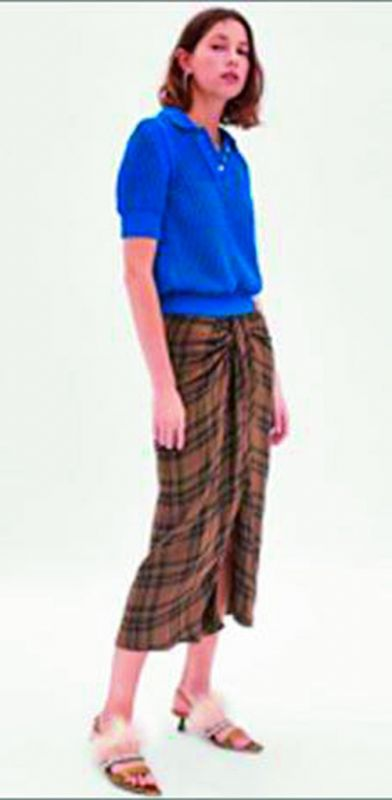 Zara introduced a lungi-inspired skirt priced around Rs 5,000.
